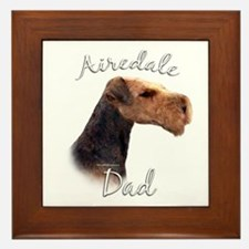 Airedale Dad2 Framed Tile