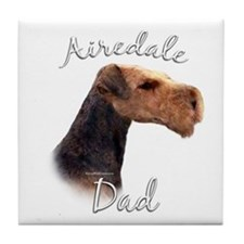 Airedale Dad2 Tile Coaster
