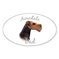 Airedale Dad2 Oval Decal