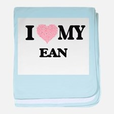 I Love my Ean (Heart Made from Love m baby blanket