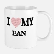 I Love my Ean (Heart Made from Love my words) Mugs