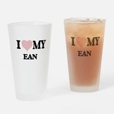 I Love my Ean (Heart Made from Love Drinking Glass