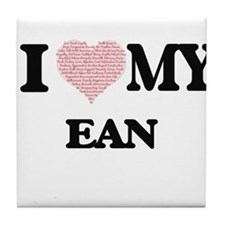 I Love my Ean (Heart Made from Love m Tile Coaster