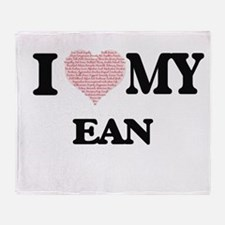 I Love my Ean (Heart Made from Love Throw Blanket
