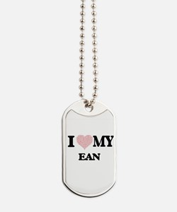 I Love my Ean (Heart Made from Love my wo Dog Tags