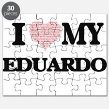 I Love my Eduardo (Heart Made from Love my Puzzle