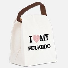I Love my Eduardo (Heart Made fro Canvas Lunch Bag