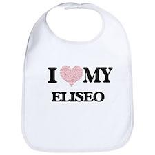 I Love my Eliseo (Heart Made from Love my word Bib