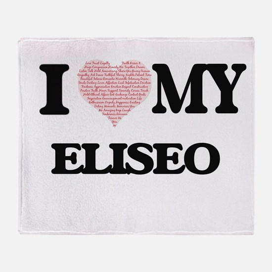 I Love my Eliseo (Heart Made from Lo Throw Blanket