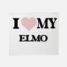 I Love my Elmo (Heart Made from Love Throw Blanket