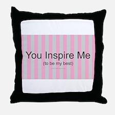 Inspire Be Best Throw Pillow
