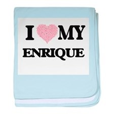 I Love my Enrique (Heart Made from Lo baby blanket