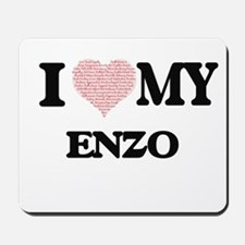 I Love my Enzo (Heart Made from Love my Mousepad