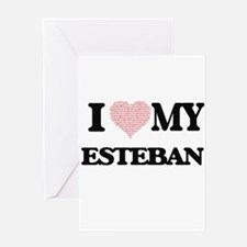 I Love my Esteban (Heart Made from Greeting Cards