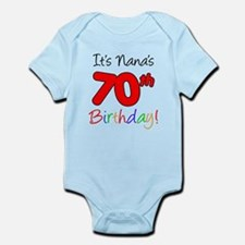 It's Nana 70th Birthday Body Suit