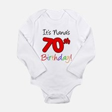 It's Nana 70th Birthday Body Suit
