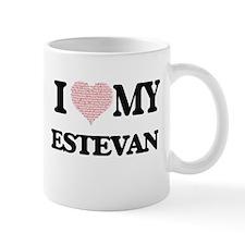 I Love my Estevan (Heart Made from Love my wo Mugs