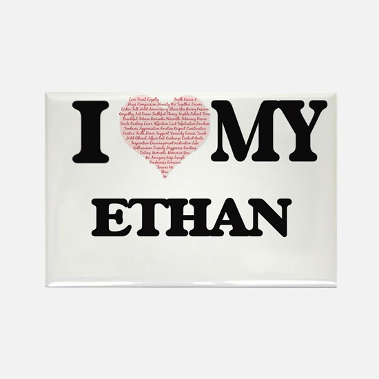 I Love my Ethan (Heart Made from Love my w Magnets