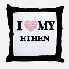 I Love my Ethen (Heart Made from Love Throw Pillow