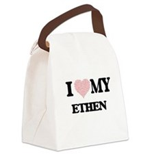 I Love my Ethen (Heart Made from Canvas Lunch Bag