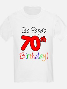 It's Papa 70th Birthday T-Shirt