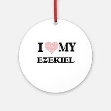 I Love my Ezekiel (Heart Made from Round Ornament