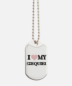 I Love my Ezequiel (Heart Made from Love Dog Tags