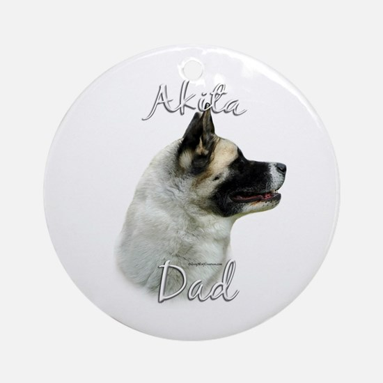 Akita Dad2 Ornament (Round)