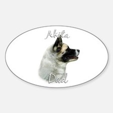 Akita Dad2 Oval Decal
