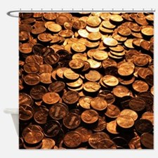 PENNIES Shower Curtain