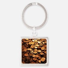 PENNIES Square Keychain
