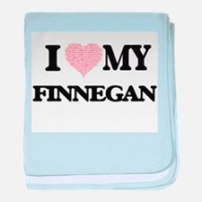 I Love my Finnegan (Heart Made from L baby blanket
