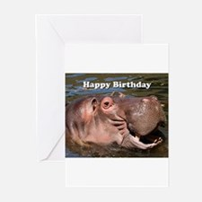 Happy Birthday: hippo Greeting Cards