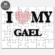 I Love my Gael (Heart Made from Love my wor Puzzle