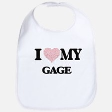 I Love my Gage (Heart Made from Love my words) Bib
