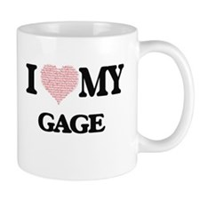 I Love my Gage (Heart Made from Love my words Mugs