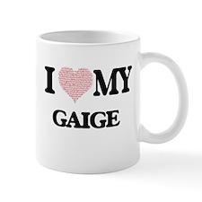 I Love my Gaige (Heart Made from Love my word Mugs