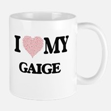 I Love my Gaige (Heart Made from Love my word Mugs
