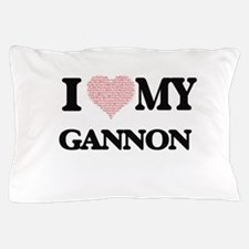 I Love my Gannon (Heart Made from Love Pillow Case