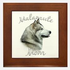 Malamute Mom2 Framed Tile