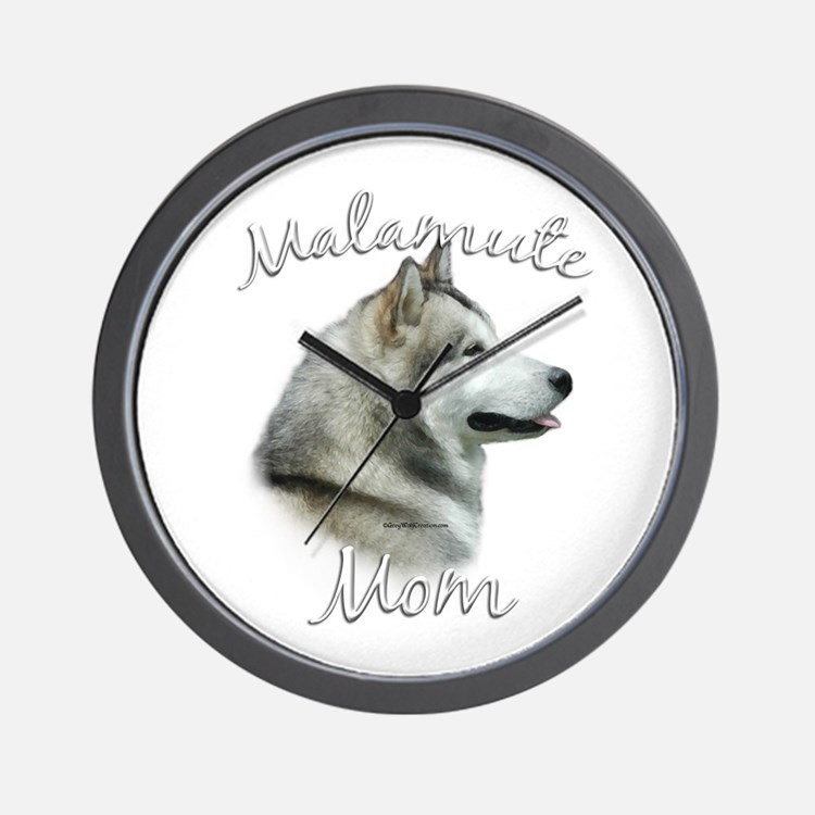 Malamute Mom2 Wall Clock