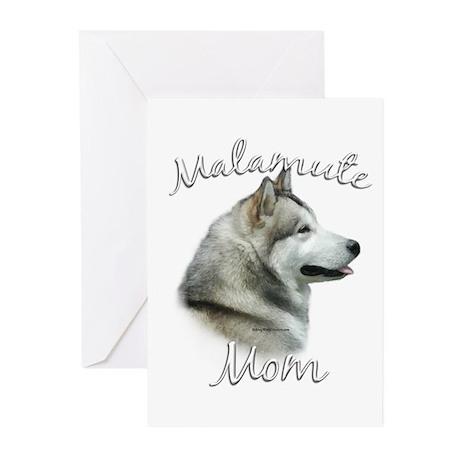 Malamute Mom2 Greeting Cards (Pk of 10)