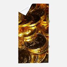 GOLD COINS 1 Beach Towel
