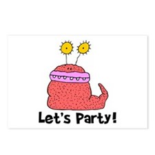 Let's Party Monster Postcards (Package of 8)