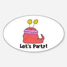 Let's Party Monster Oval Decal