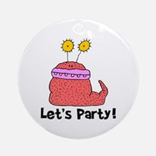 Let's Party Monster Ornament (Round)