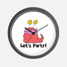 Let's Party Monster Wall Clock