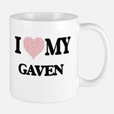 I Love my Gaven (Heart Made from Love my word Mugs