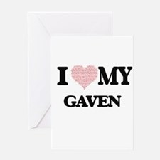 I Love my Gaven (Heart Made from Lo Greeting Cards