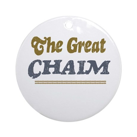 Chaim Ornament (Round)